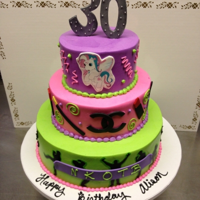 80's Theme Birthday Cake