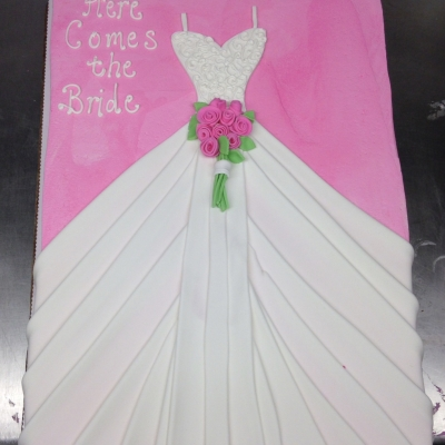Bridal Shower Dress Sheet Cake