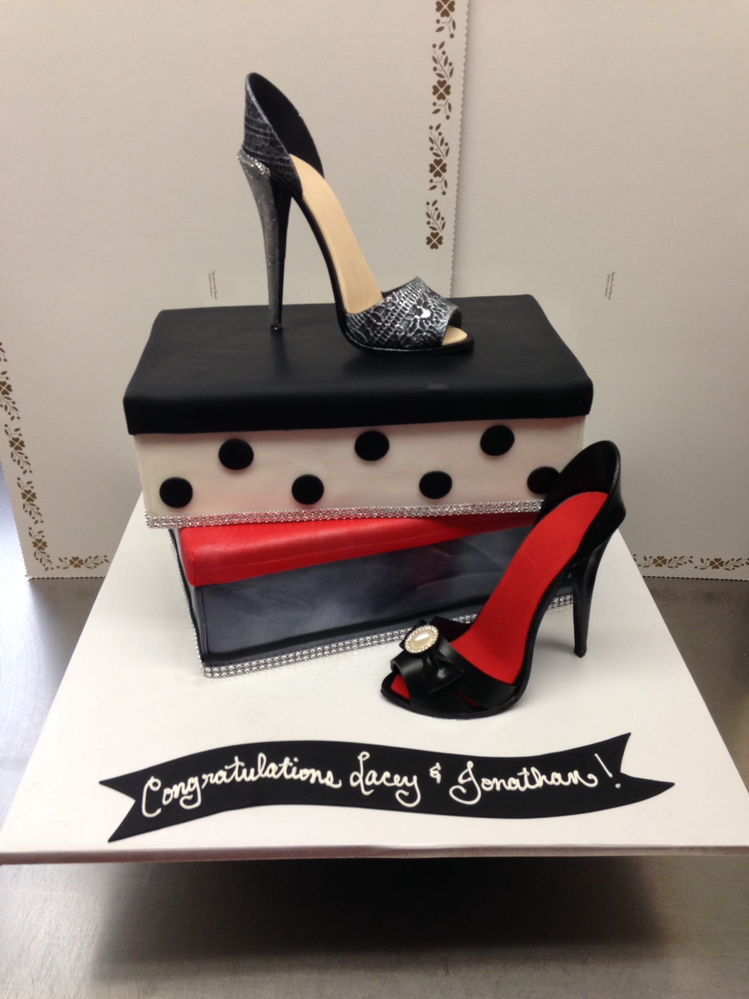 Shoe Box and Stilettos Cake