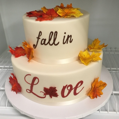 Fall in Love Bridal Shower Cake