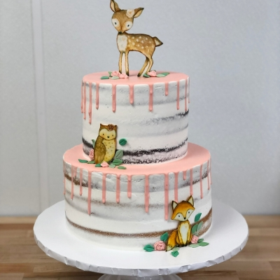 Baby Animals Shower Cake