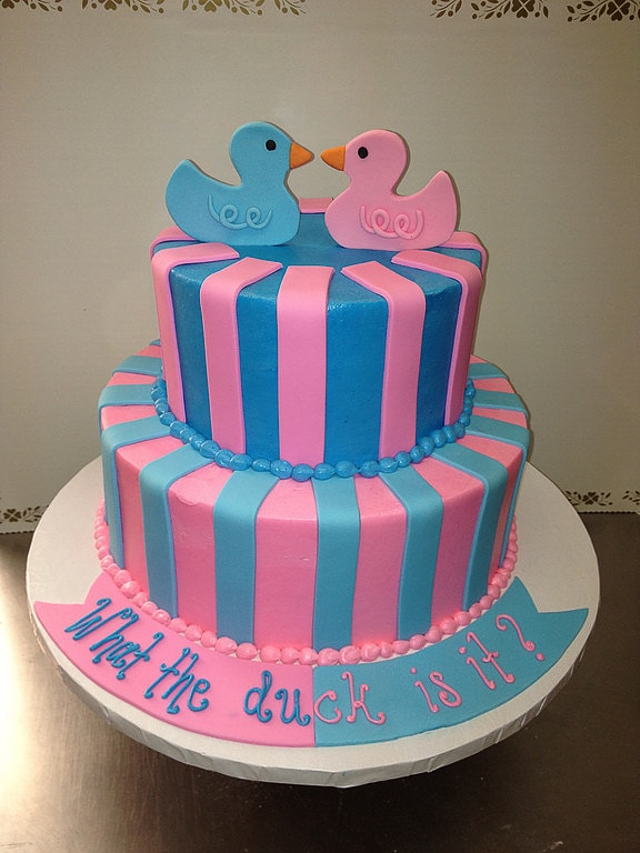 What the Duck is it Gender Reveal Cake