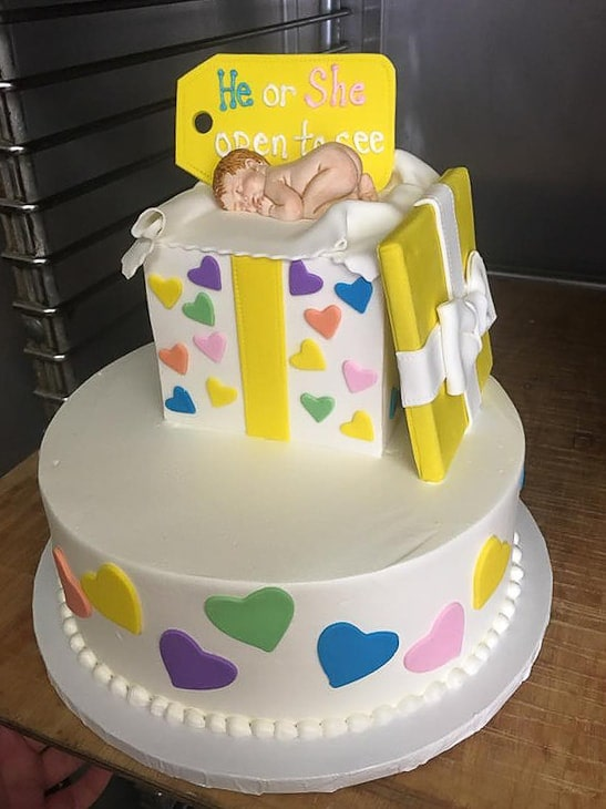 He or She, Open to See Gender Reveal Cake