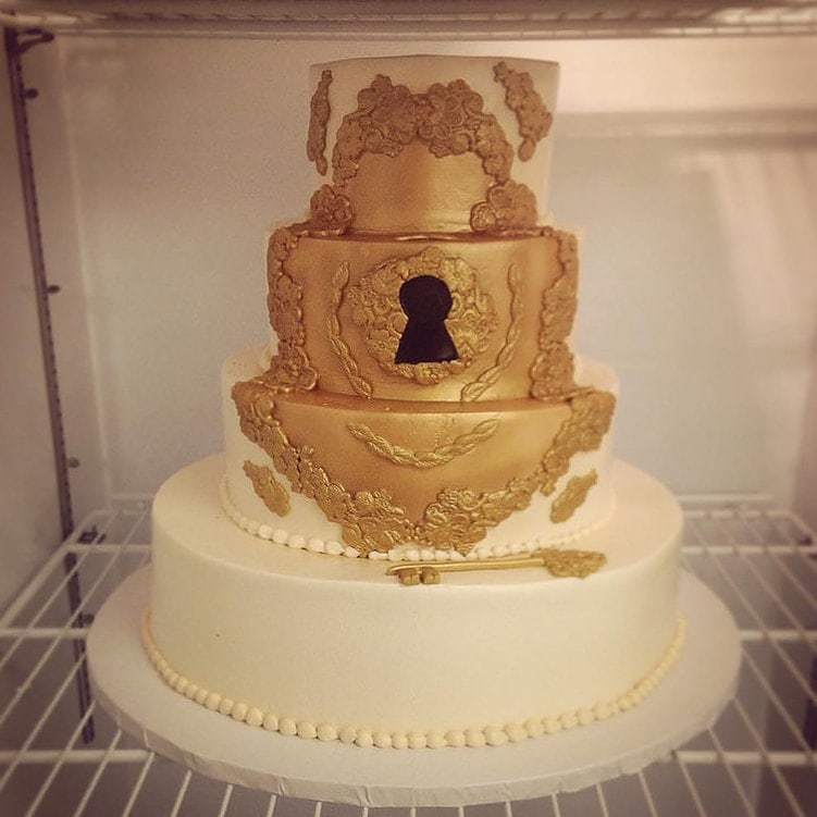 Love is the Key to Happiness Cake