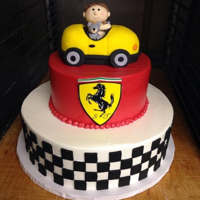 Ferrari Baby Shower Cake