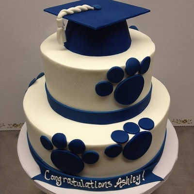 College Graduation Tier Cake