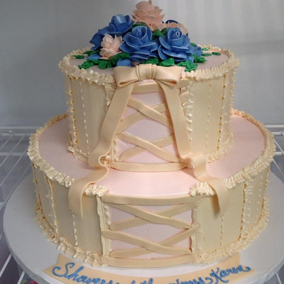 Corset Bridal Shower Cake