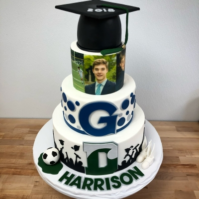 Delbarton to Georgetown Graduation Cake