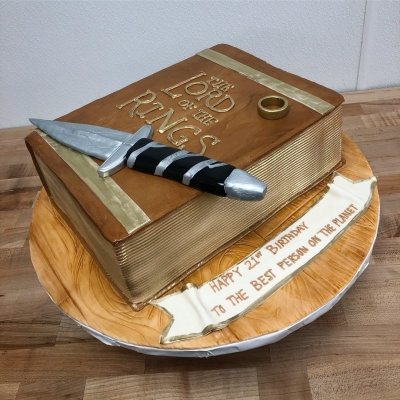 Lord of the Rings Book Cake