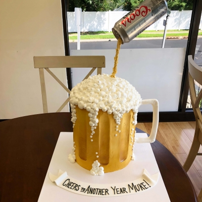 Buttercream Beer Mug Cake
