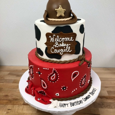 Cowboy and Cowgirl Cake