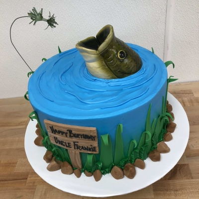 Big Mouth Bass Cake