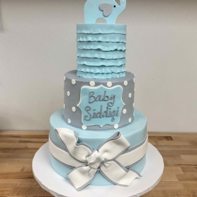 Blue and Gray Baby Shower
