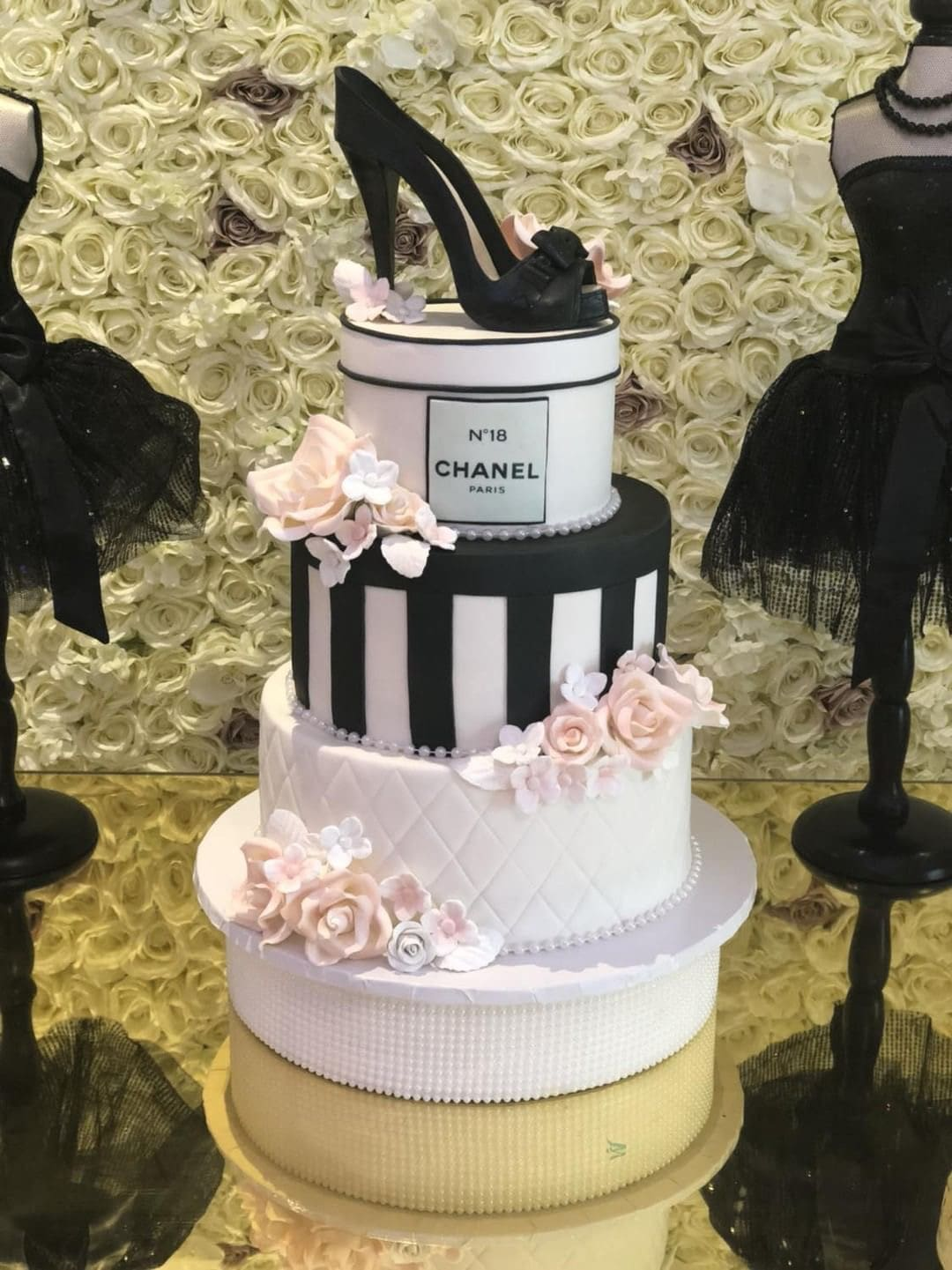 chanel bridal shower cake