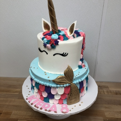 Mermaid Unicorn Cake