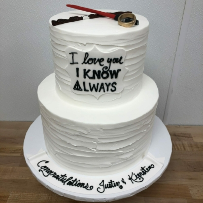 I Love You, I Know Engagement Cake
