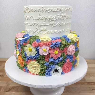 Floral Anniversary Cake