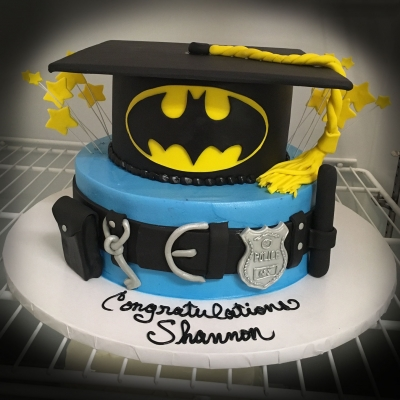 Batman Police Graduation Cake