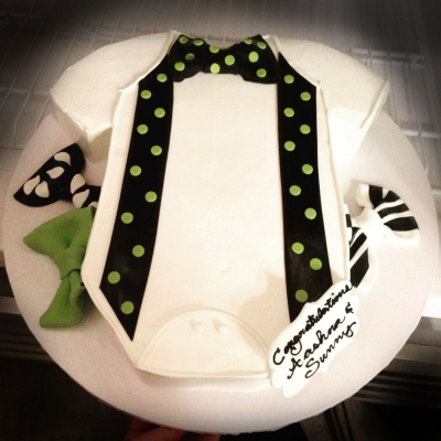 Dapper Onesie Baby Shower Cake