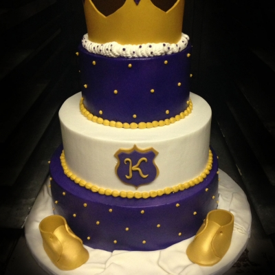 Royal Purple and Gold Baby Shower