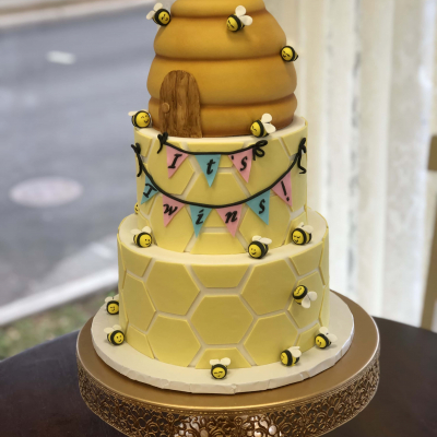 Baby Bee Baby Shower Cake