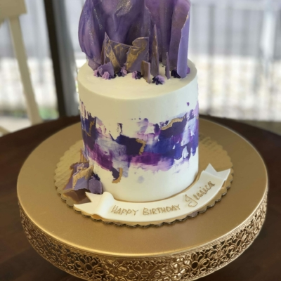 Purple and Gold Chocolate Sails