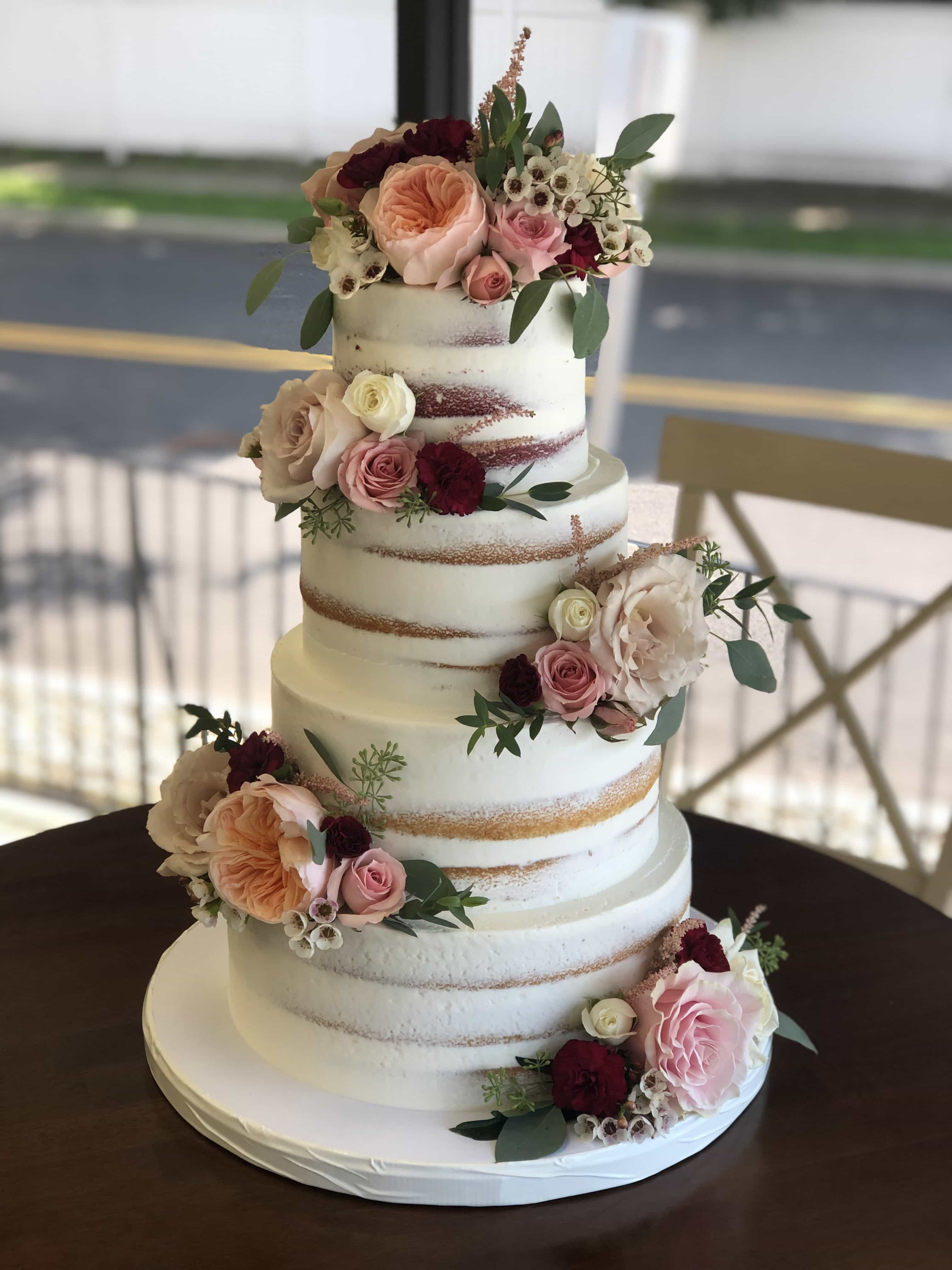 Naked Cake with Pink Flowers - Elizabeth Anne Designs: The