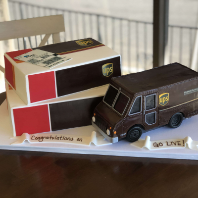 UPS Truck and Package Cake