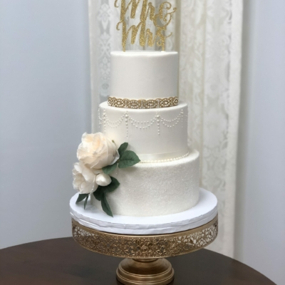 Gold and Crystal Sugar 3 Tier