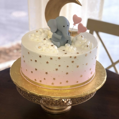 Baby Elephant Pink and Gold