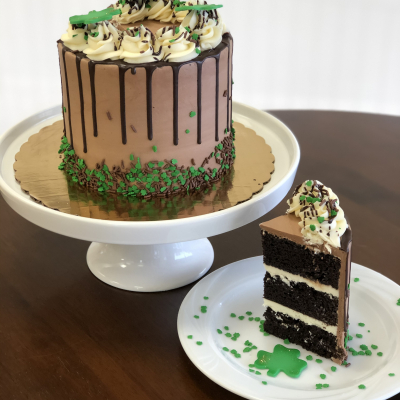 Chocolate Baileys Buttercream St. Patrick's Day cake