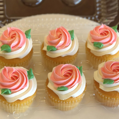 Rosey Pink Rosette Cupcakes